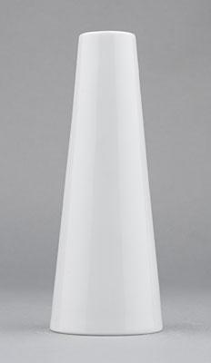 Váza porcelánová bílá Hotelová úzká vysoká 15,2cm Český porcelán Bohemia 1.jakost