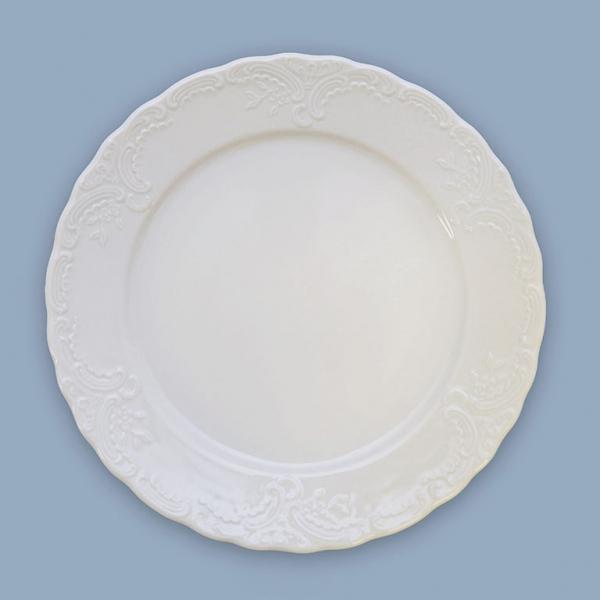 Talíř mělký porcelánový bílý Opera 24 cm Český porcelán Dubí
