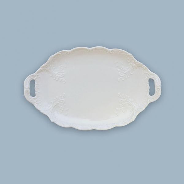 Mísa oválná porcelánová bílá Opera 25 cm Český porcelán Dubí