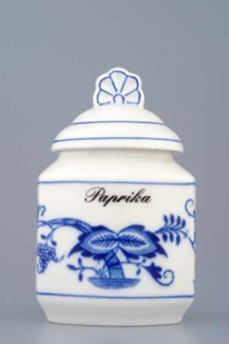 Dózička na koření - tělo 0,20 l originální cibulákový porcelán Dubí, cibulový vzor, 1. jakost