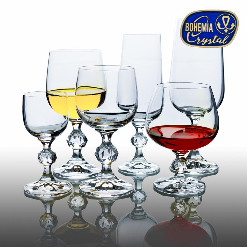 Skleničky na víno bílé Claudia 190 ml 6 ks Crystalex CZ