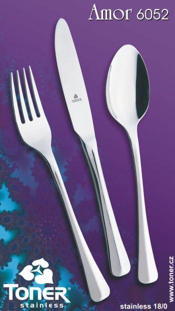 Příbory jídelní Amor sada pro 6 osob 24 ks Toner nerez