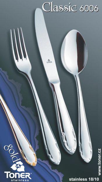 Příbory sada jídelní Classic pro 6 osob 24 ks Toner nerez