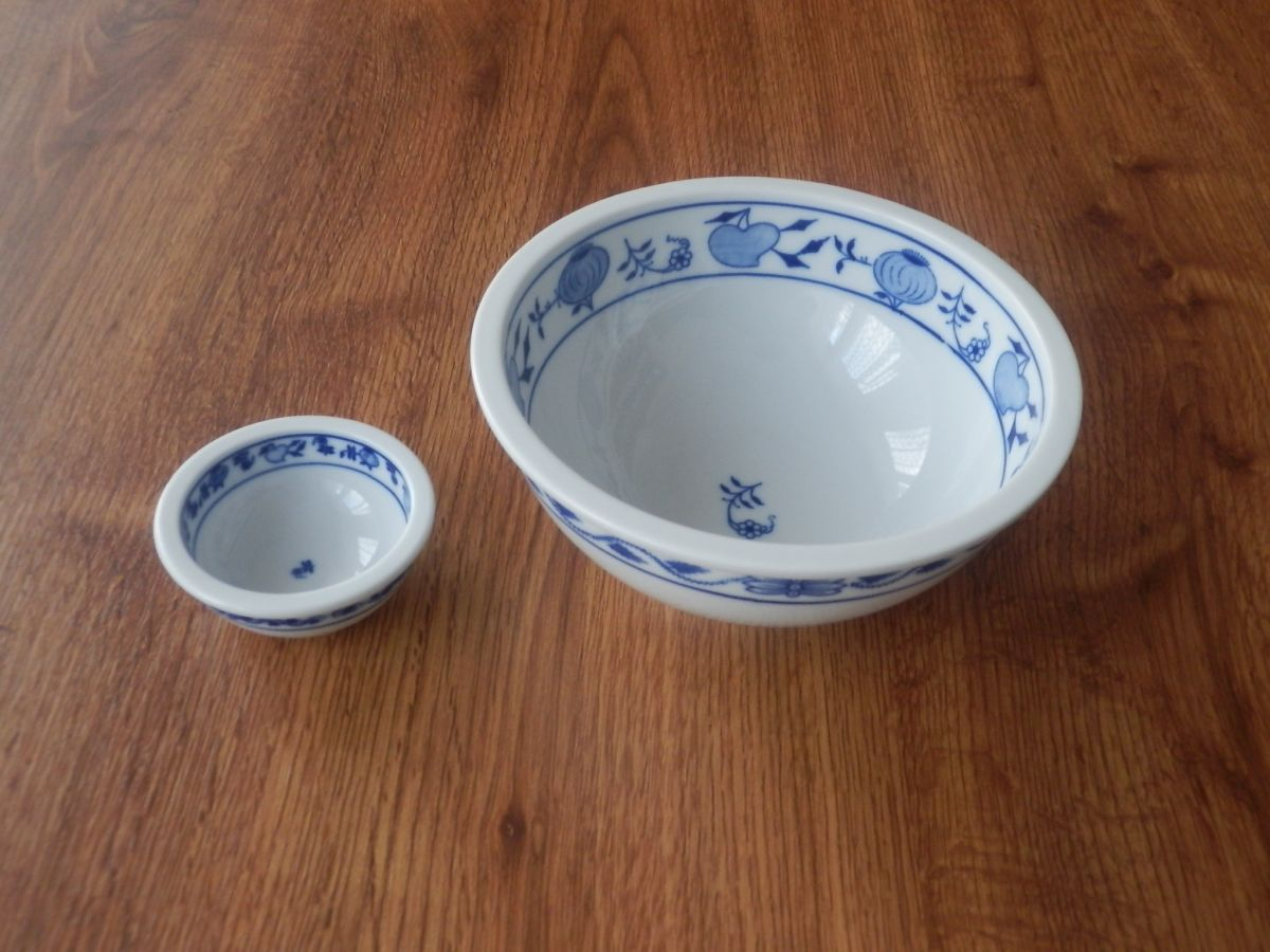 Cibulák Mísa kulatá Bep2 10cm originální cibulákový porcelán Dubí, cibulový vzor, 1.jakost