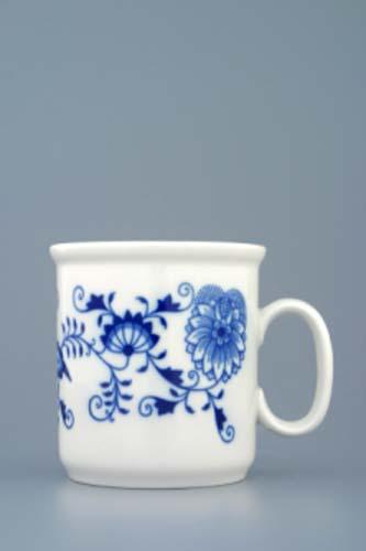 Cibulák hrnek Gaston M bez linek Akce -50% 0,22 l originální cibulákový porcelán Dubí, cibulový vzor 1.jakost