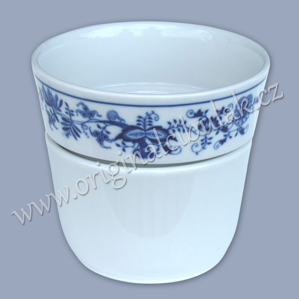 Cibulák květináč Krasko 14,5 cm originální cibulákový porcelán Dubí, cibulový vzor, 1.jakost