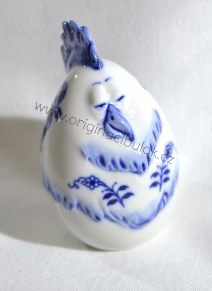 Cibulák Vejce slepička 7,1 cm originální cibulákový porcelán Dubí, cibulový vzor, 1.jakost