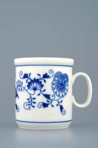 Cibulák hrnek Henry M 0,27 l originální cibulákový porcelán Dubí, cibulový vzor, 2.jakost