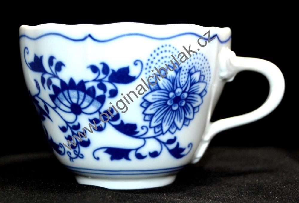 cibulák šálek + podšálek B + B Akce 0,20 l originální cibulák, cibulový porcelán Dubí 1.jakost