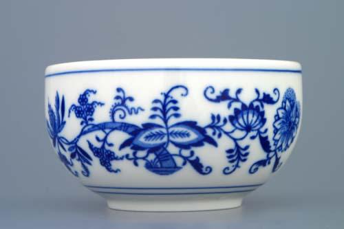 Cibulák miska hladká vysoká 11 cm Akce -50% originální cibulákový porcelán Dubí , cibulový vzor, 2. jakost