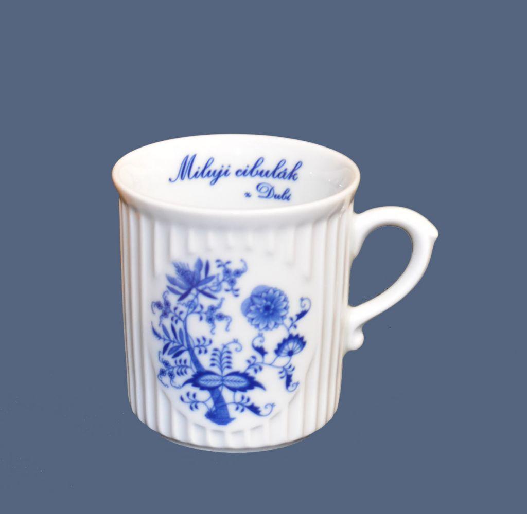 Cibulák hrnek Miluji cibulák Mozart 0,25 l , cibulový vzor, 1.jakost český porcelán Dubí