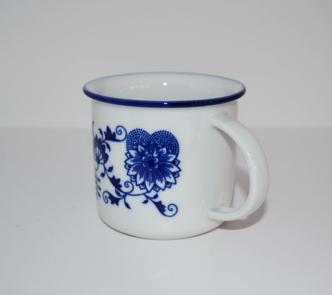 Cibulák hrnek Tina 0,25 l, originální cibulákový porcelán Dubí, cibulový vzor, 1.jakost