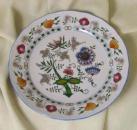 Talíř mělký praporový - NATURE barevný cibulák, cibulový porcelán Dubí 2.jakost